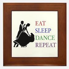 Eat Sleep Dance Framed Tile