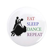 """Eat Sleep Dance 3.5"""" Button (100 pack)"""