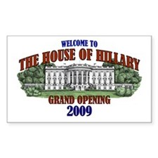 House of Hillary Rectangle Decal
