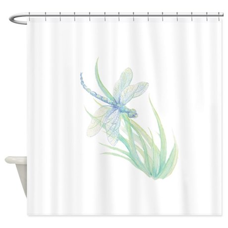 Watercolor Dragonfly Painting In So Shower Curtain