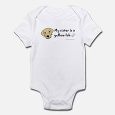 yellow lab gifts Infant Bodysuit