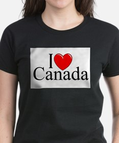 """I Love Canada"" Ash Grey T-Shirt"