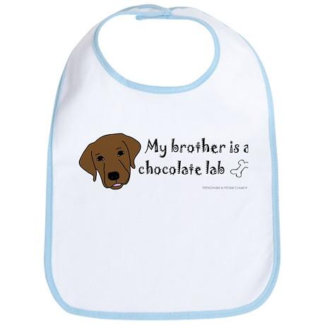 chocolate lab gifts Bib