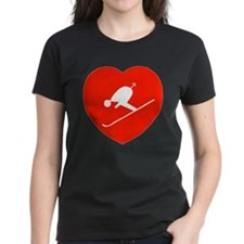 Love Skiing Heart Tee