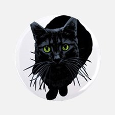"""Black Cat 3.5"""" Button"""