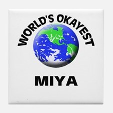 World's Okayest Miya Tile Coaster