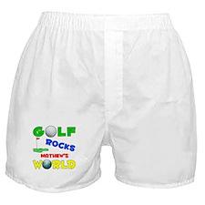 Golf Rocks Mathew's World - Boxer Shorts