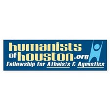 Humanists of Houston Bumper Bumper Sticker