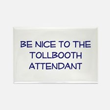 Tollbooth Attendant Rectangle Magnet (10 pack)