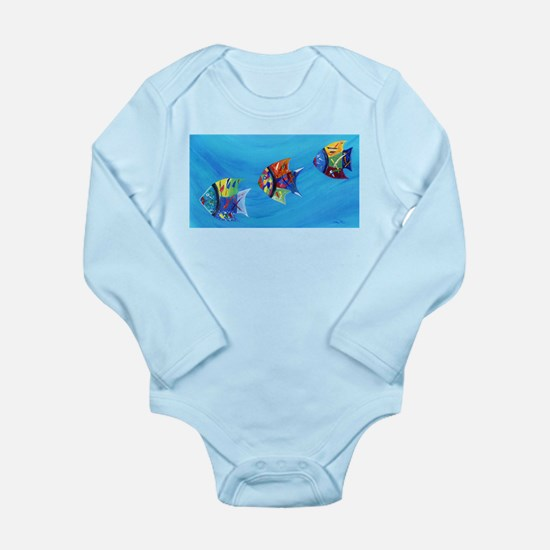 Three Little Fishy's Body Suit