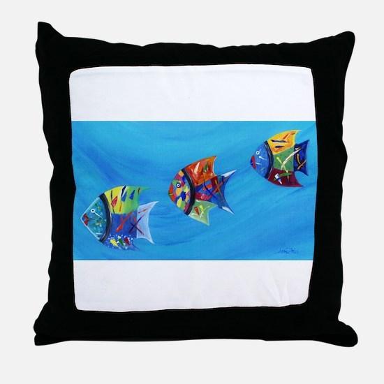 Three Little Fishy's Throw Pillow
