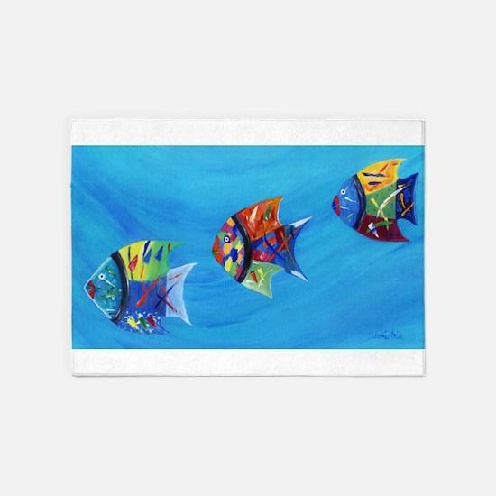 Three Little Fishy's 5'x7'Area Rug