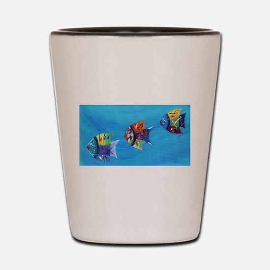 Three Little Fishy's Shot Glass