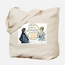 "Jane Austen ""good opinion"" quotes Tote Bag"
