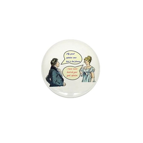 """Jane Austen """"good opinion"""" quotes Mini Buttons"""