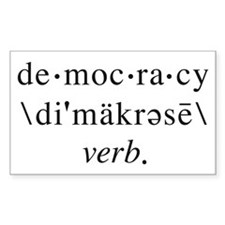 Democracy Bumper Rectangle Decal