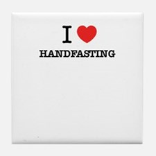 I Love HANDFASTING Tile Coaster