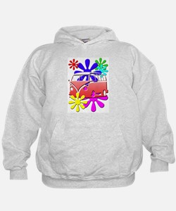 VW Hippie bus color flowers Hoodie
