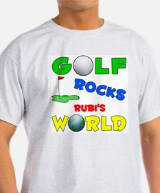 Golf Rocks Rubi's World - T-Shirt