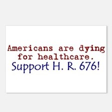 Americans Are Dying For Healt Postcards (Package o