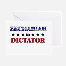ZECHARIAH for dictator Greeting Card