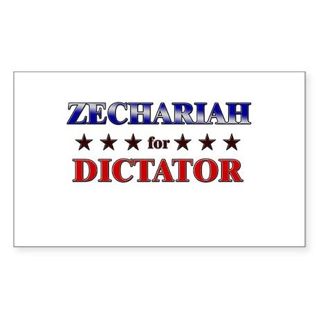 ZECHARIAH for dictator Rectangle Sticker