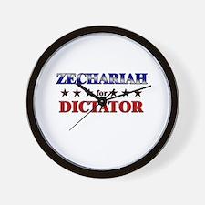 ZECHARIAH for dictator Wall Clock