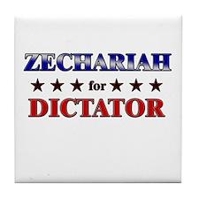 ZECHARIAH for dictator Tile Coaster