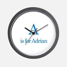 A is for Adrian Wall Clock