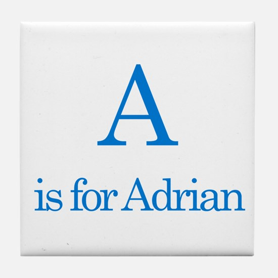 A is for Adrian Tile Coaster