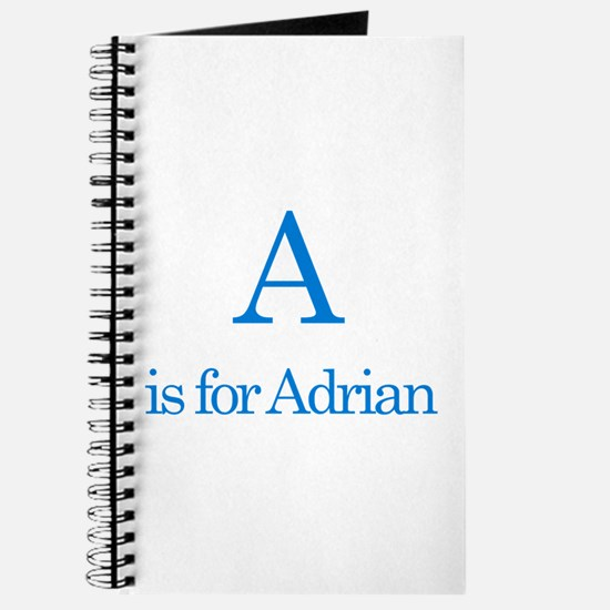 A is for Adrian Journal