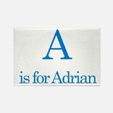 A is for Adrian Rectangle Magnet (10 pack)