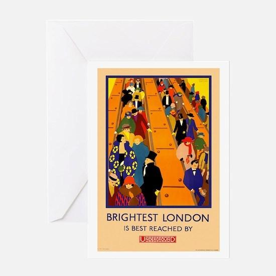 London Underground Vintage Travel Poster Greeting