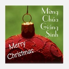 Vietnamese Christmas Tile Coaster