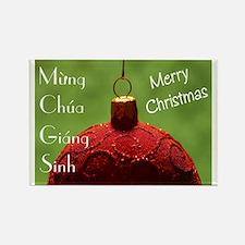Vietnamese Christmas Rectangle Magnet