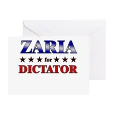 ZARIA for dictator Greeting Card