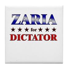 ZARIA for dictator Tile Coaster