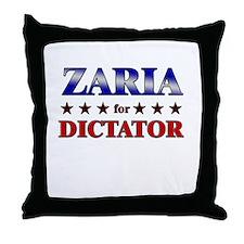 ZARIA for dictator Throw Pillow