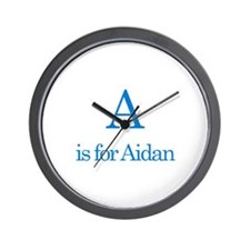 A is for Aidan Wall Clock
