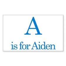 A is for Aiden Rectangle Decal