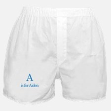 A is for Aiden Boxer Shorts