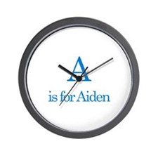 A is for Aiden Wall Clock