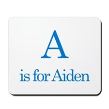 A is for Aiden Mousepad