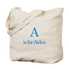 A is for Aiden Tote Bag