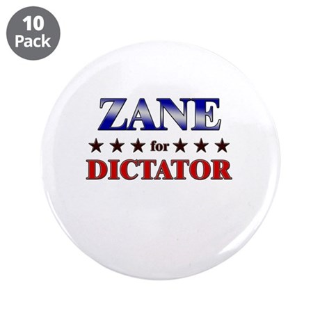 """ZANE for dictator 3.5"""" Button (10 pack)"""