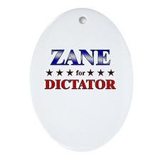 ZANE for dictator Oval Ornament