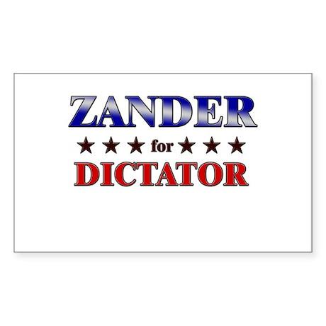 ZANDER for dictator Rectangle Sticker