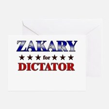 ZAKARY for dictator Greeting Card