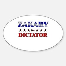 ZAKARY for dictator Oval Decal