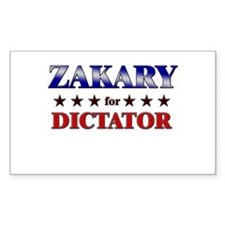 ZAKARY for dictator Rectangle Decal